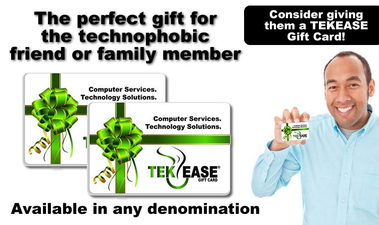 Computer Repair Gift Certificate | TEKEASE Gift Cards